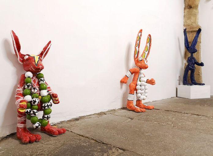 Denis Brun - Flesh Gordon, Scrotie Mc Boogerballset Lapunk - No where à la Numéro 5 Galerie - Montpellier
