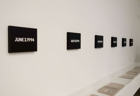On Kawara - Date Paintings, 1994 « Distance intime. Chefs-d'œuvre de la collection Ishikawa » au MO.CO. Montpellier Contemporain - Hôtel des Collections à #Montpellier. Photo En revenant de l'expo !