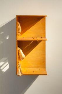 Mathis Altmann - YesVacancy, 2016. Bois, coton, verre, mouches. 80 x 40,5 x 28,5 cm. Courtesy of Freedman Fitzpatrick, Los Angeles/Paris