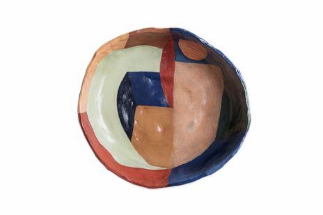 Caroline Denervaud - Céramiques en terre crue, 2019 Peinture à l'huile, vernie Dimensions variables