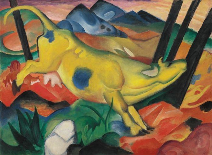 Franz Marc (1880-1916), Vache jaune (Gelbe Kuh), 1911, huile sur toile, 140,7 x 189,2 cm Solomon R. Guggenheim Museum, New York, Solomon R. Guggenheim Founding Collection, 49.1210