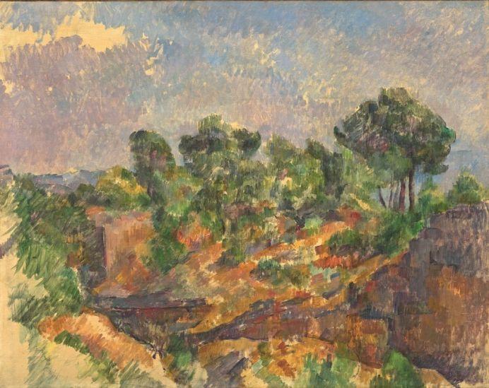 Paul Cézanne (1839-1906), Bibémus, vers 1894-1895, huile sur toile, 71,4 x 90,1 cm Solomon R. Guggenheim Museum, New York, Thannhauser Collection, don Justin K. Thannhauser, 78.2514.6