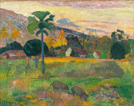 Paul Gauguin (1848-1903), Haere Mai, 1891, huile sur toile de jute, 72,5 x 92 cm Solomon R. Guggenheim Museum, New York, Thannhauser Collection, don Justin K. Thannhauser, 78.2514.16