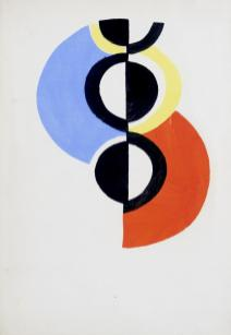 Sonia Delaunay « Rythme sans fin – hommage à Robert Delaunay » (1934-1956) Pochoir à la gouache sur papier vélin Format : 27 x 19,50 cm (46 x 37 cm encadré)