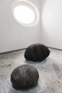 Aube immédiate, vents tièdes, vue d'exposition avec des oeuvres de Jean-Marie Perdrix, Mécènes du Sud Montpellier-Sète, 2019, image Elise Ortiou Campion