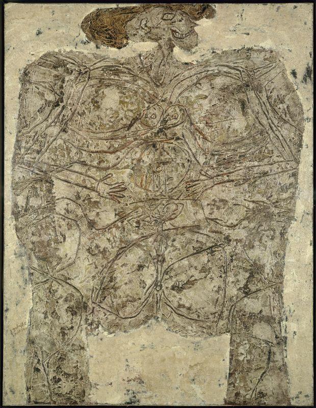 Jean Dubuffet, Le Métafizyx, août 1950, huile sur toile, 116 × 89cm. Centre Pompidou, Paris - Musée national d'art moderne/Centre de création industrielle © Centre Pompidou, MNAM-CCI, Dist. RMN-Grand Palais/Jacques Faujour © Adagp, Paris 2019.