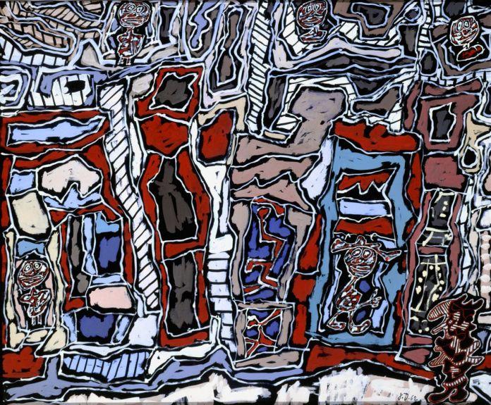 Jean Dubuffet, Paris plaisir, oct. 1962, gouache avec pièces rapportées, collées sur papier, Paris, 67 × 81cm. Musée des Arts décoratifs, Paris © MAD, Paris - Laurent Sully Jaulmes © Adagp, Paris2019