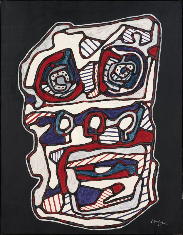 Jean Dubuffet, Réchaud four à gaz II, mars 1966, huile sur toile, 116 × 89 cm. Louisiana Museum of Art, Humlebaek, Danemark © Louisiana Museum of Modern Art. Donation. : The Joseph and Celia Ascher Collection, New York © Adagp, Paris 2019.