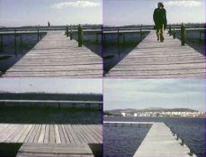 Tjeerd Alkema - Aller Retour, 1974 - Capture d'écran, film Super-8 - Photo T.Alkema