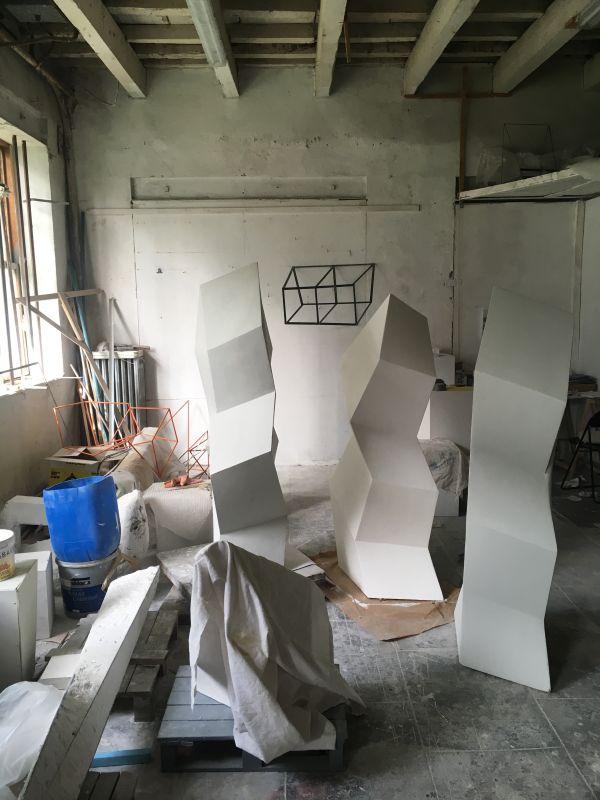 Vue de l'atelier de Tjeerd Alkema, 2019