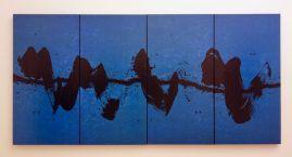 Fabienne Verdier - Marche bleue, 2015 - Sur les terres de Cezanne au Musée Granet - Etage Salle 2
