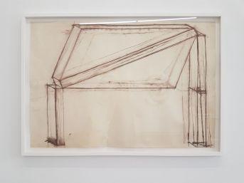 Sans titre, 1978, craie sur papier, 74 x 110 cm