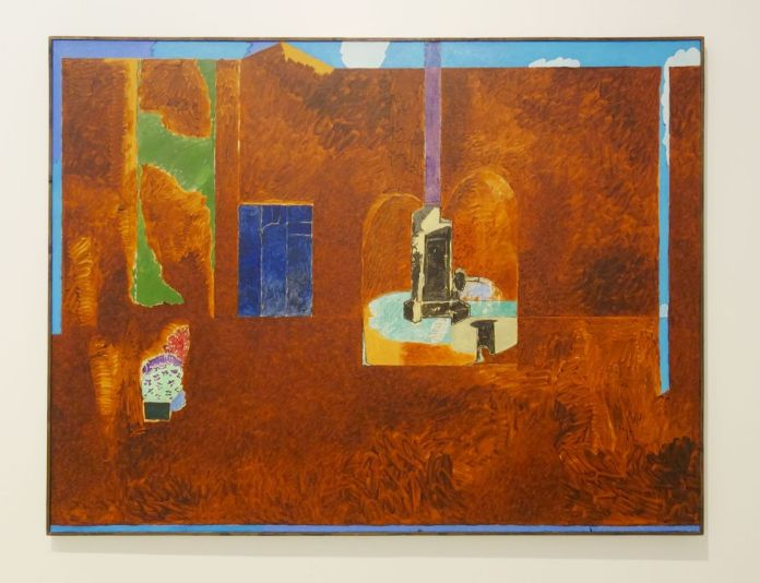 Vincent Bioulès - Eté II Aix, 1977 - Chemins de traverse - La série des places, la ville comme un décors d'opéra au Musée Fabre