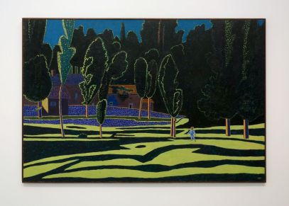 Vincent Bioulès - La ferme de Méjan II, 1980 - Chemins de traverse - Le paysage, cette joie fondatrice au Musée Fabre 801