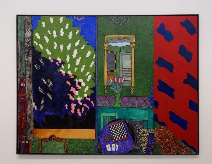 Vincent Bioulès - Le Viallat dans la maison ou les trois as, 1981 - Chemins de traverse - Habiter la peinture au Musée Fabre