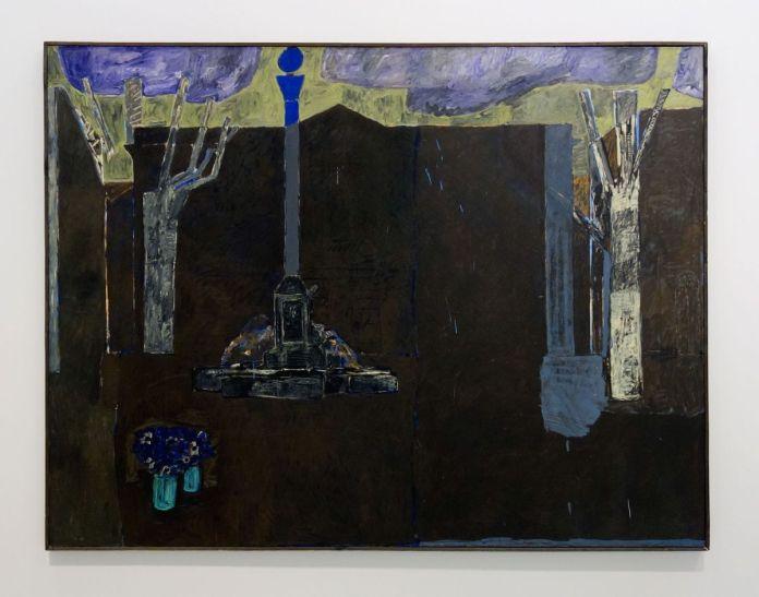 Vincent Bioulès - Tombeau à Aix en Provence, 1977 - Chemins de traverse - La série des places, la ville comme un décors d'opéra au Musée Fabre