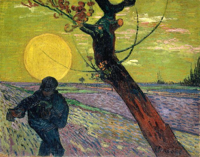 Vincent van Gogh Arles - Semeur au soleil couchant, 1888
