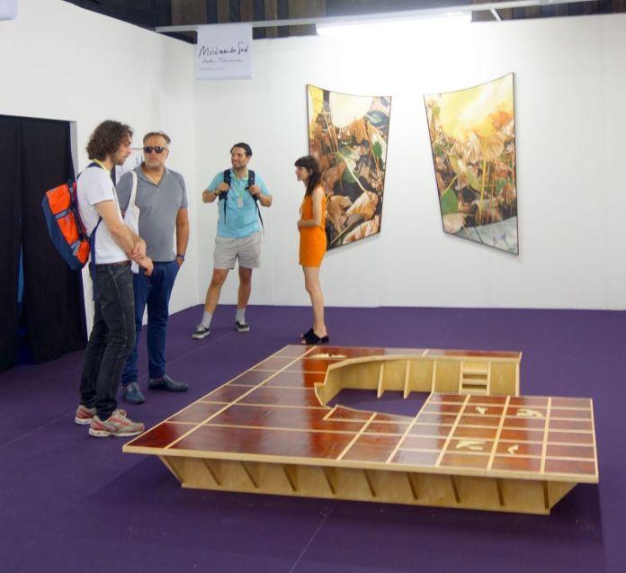 Antoine Espinasseau - Au quatrième mur - Mécènes du sud Aix-Marseille - Art-O-Rama à Marseille. Photo En revenant de l'expo !