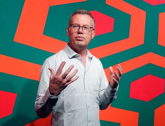 Michel Gauthier, commissaire de l'exposition La révolution permanente à la Fondation Vasarély - Aix-en-Provence
