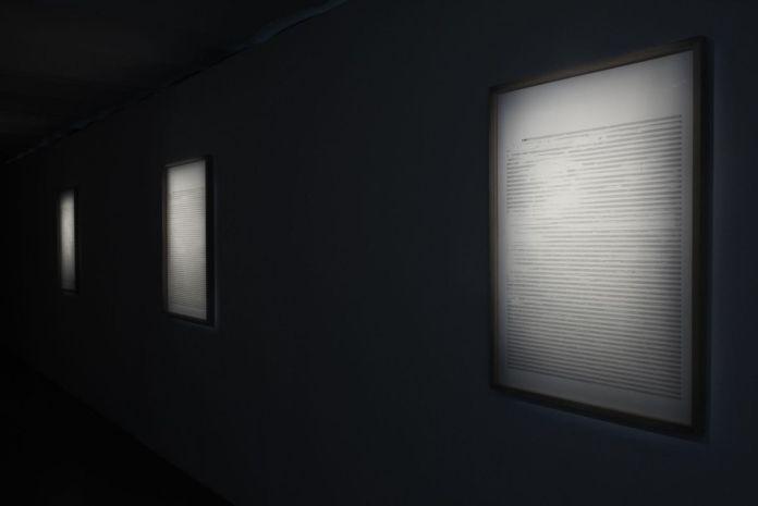 Paul Destieu - Mouvements pour batterie, code XML sur portées, 2019 - Art-cade - Marseille - Photos Luce Moreau