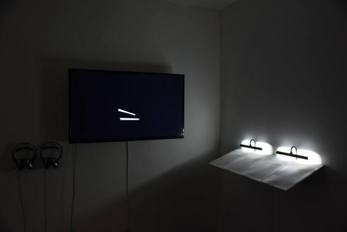 Paul Destieu - Archive d'une frappe / Mouvements pour batterie, 2014/2015 - vue de l'exposition à Art-cade Galerie des grands bains douches, Marseille - Photos Luce Moreau