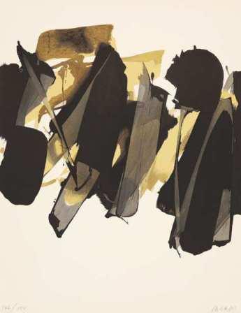 Pierre Soulages - Lithographie 14, 1964. Collection particulière