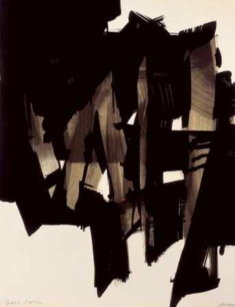 Pierre Soulages - Lithographie 15, 1964. Collection particulière