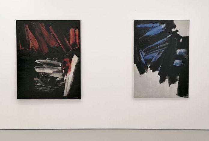 Pierre Soulages - Peinture 16 2x 130cm, 2 novembre 1959 et Peinture 162 x 114 cm, 28 décembre 1959 - Musée Fabre - Salle 46b