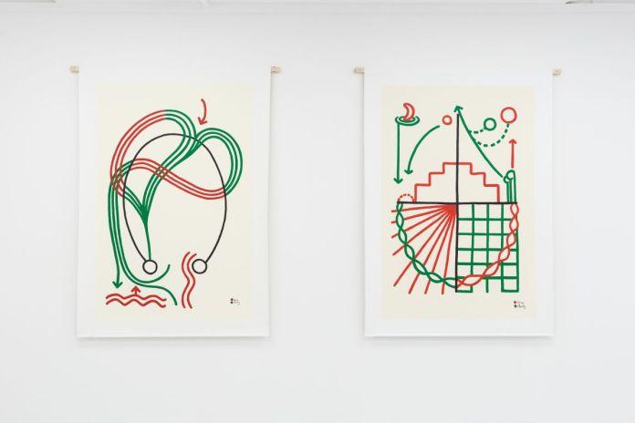 Tina et Charly - Dialogues schématiques, 2019 - L'échantillon d'un jardin à la galerie de la Scep – Marseille - Photo Nassimo Berthommé