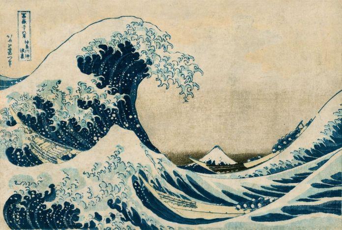 Katsushika Hokusai (1760-1849), L'Envers de la grande vague de K anagawa Série Trente-Six Vues du Fuji, vers 1831 Nishiki-e, 26,1 × 38,8 cm Collection Georges Leskowicz, Photo : © Fundacja Jerzego Leskowicza