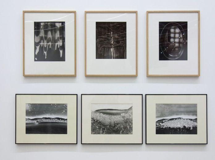 Jean Dieuzaide - Fenêtre de mon bureau, 1981 - La cascade de Larroque, 1981 - La poêle miroir, 1970 et Jean-Pierre Sudre - Paysage matériographique_1