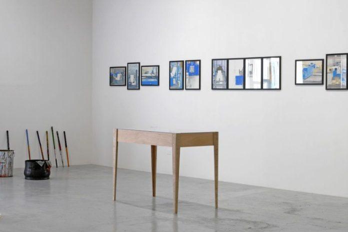 Mehdi Zannad, artiste en résidence dans l'entreprise Milhe & Avons. Résidence d'artistes développée et coproduite par Mécènes du Sud en 2018