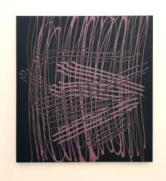 Quadrangle dans sa cave, 2018 acrylique sur alucore, 150 x 184 cm