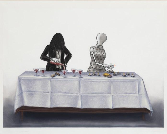 Lisa Milroy - Tablecloth, 2016