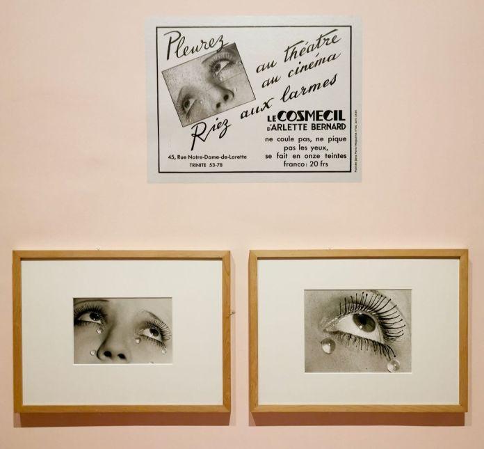 Man Ray - Les Larmes, 1932 et L'œil, 1932 - Paris-Magazine n°44, avril 1935 - Publicité pour Cosmécil - Man Ray, photographe de mode - Musée Cantini - Mode et publicité