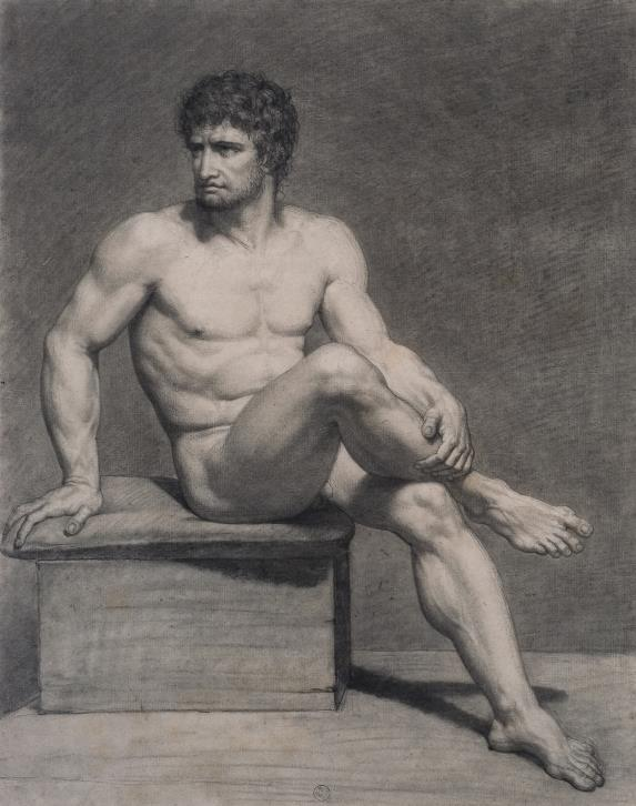 François-Xavier Fabre, Académie - homme assis, fin XVIIIe siècle