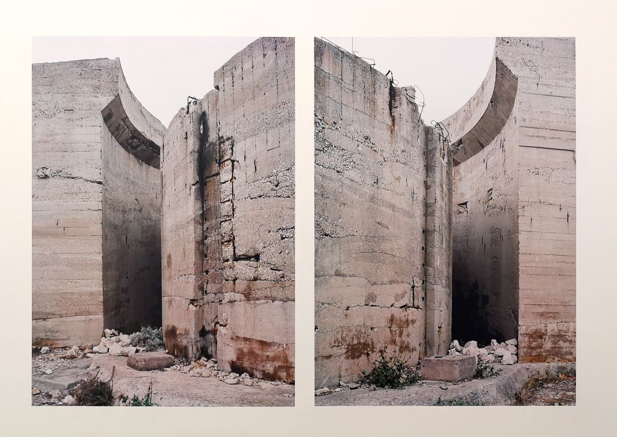 Margret Hoppe - Iles du Frioul - 43°17'00,1''N 5°18'39,1''E - Südwall (Le mur de la Méditerranée) - Friche la Belle de Mai