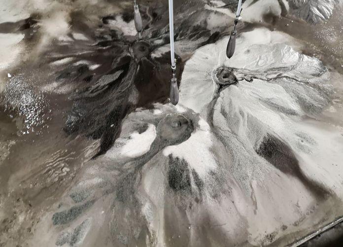Pierre Malphettes - Volcans, fleuves et deltas, 2019 (détail) - La mesure du monde au MRAC – Sérignan