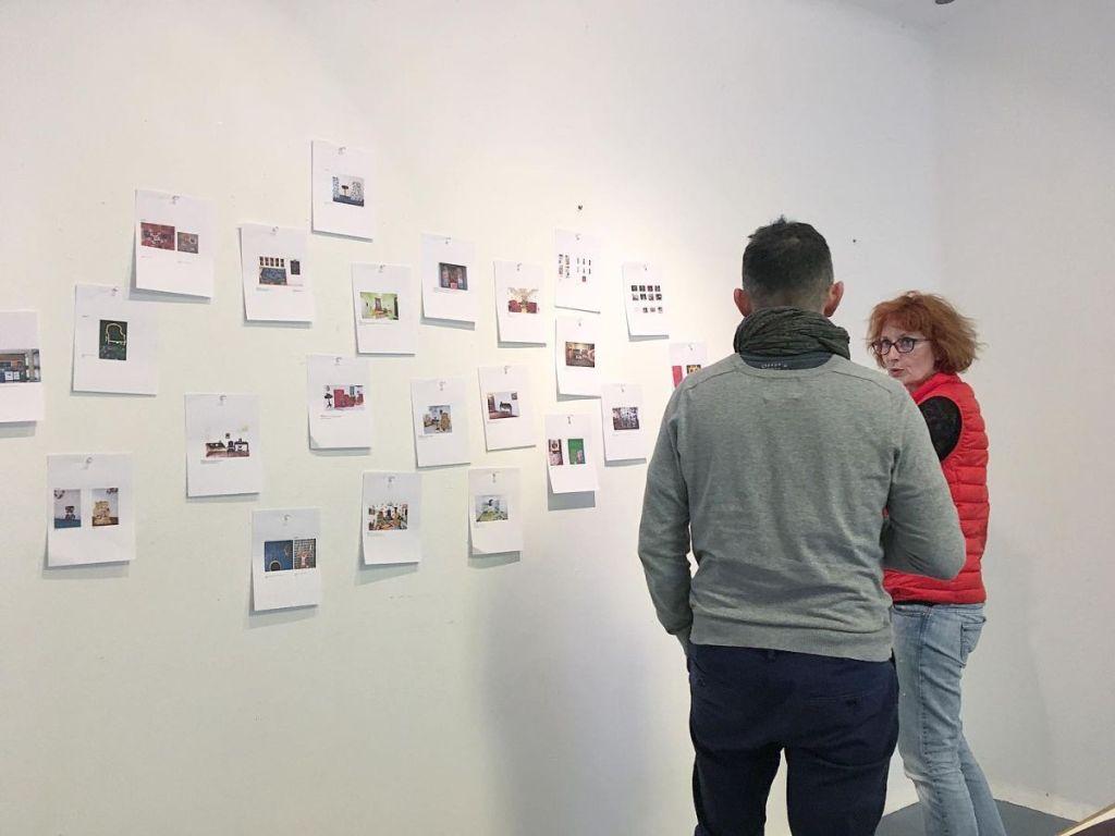 Session de travail avec Anne du Boistesselin. Résidence La Clinique pour Artistes