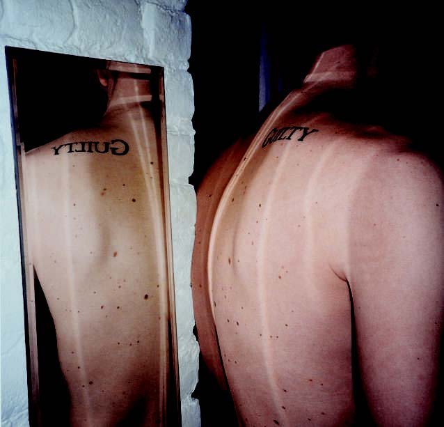 Douglas Gordon - Guilty (Tatoo (for reflexion), 1997