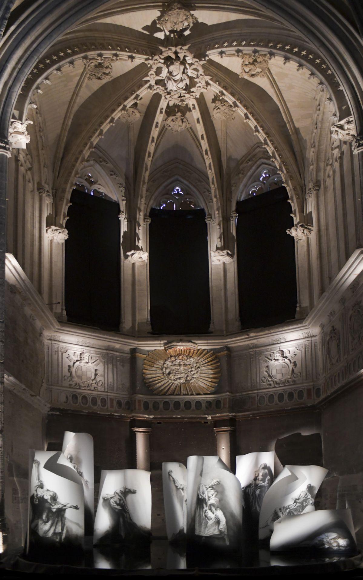 Ernest Pignon Ernest - Extases - les mystiques 2020 - Église des Célestins à Avignon ©Ernest Pignon-Ernest