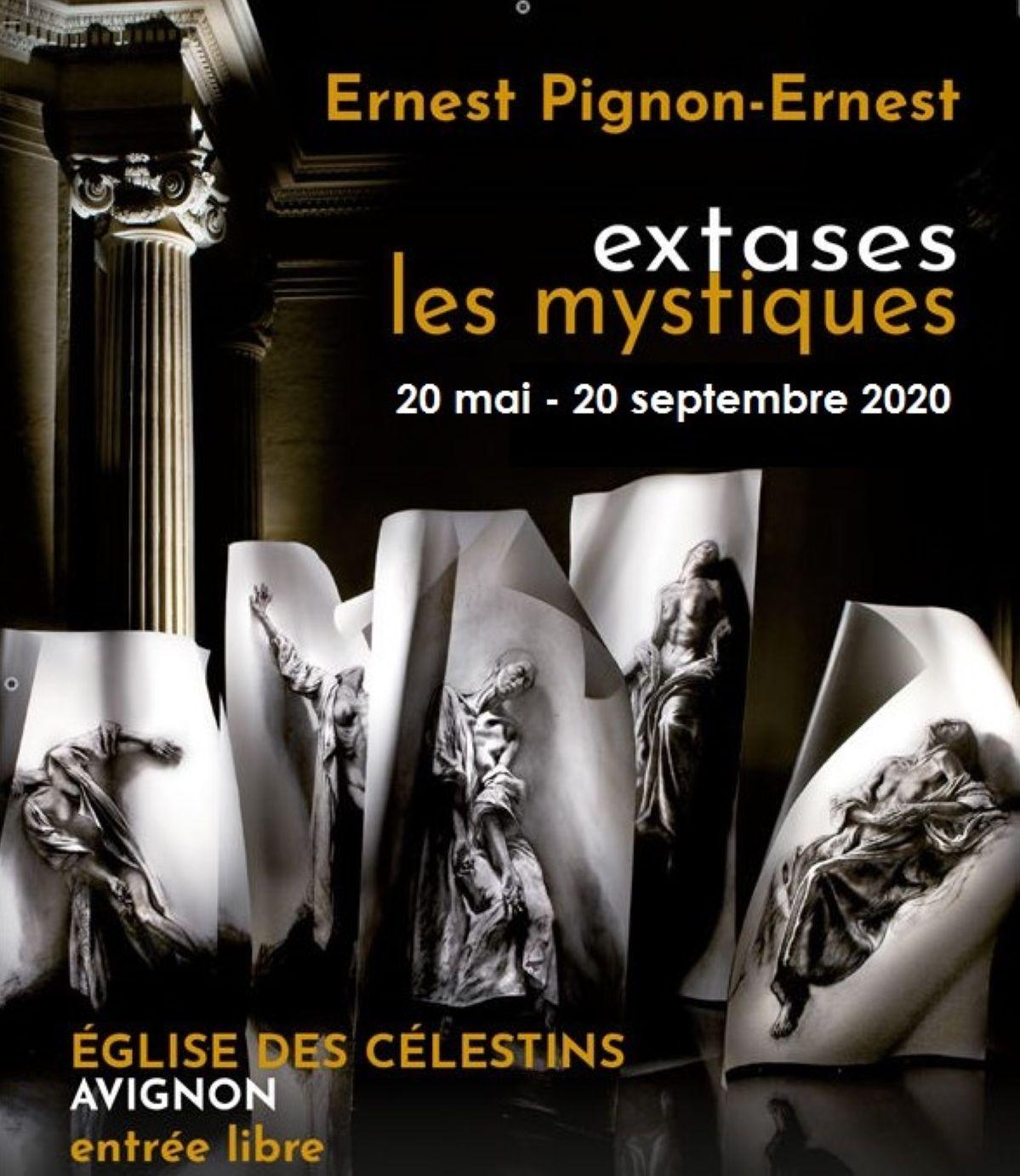 Ernest Pignon Ernest - Extases - les mystiques 2020 - Église des Célestins à Avignon ©Ernest Pignon-Ernest- Affiche