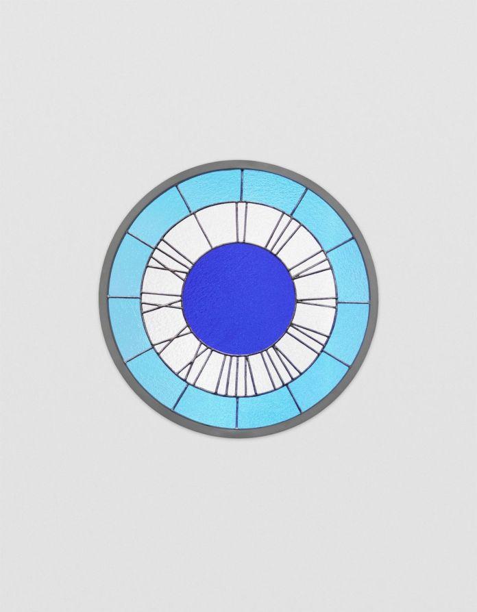 Ugo Rondinone - Blue White Blue Clock, 2013