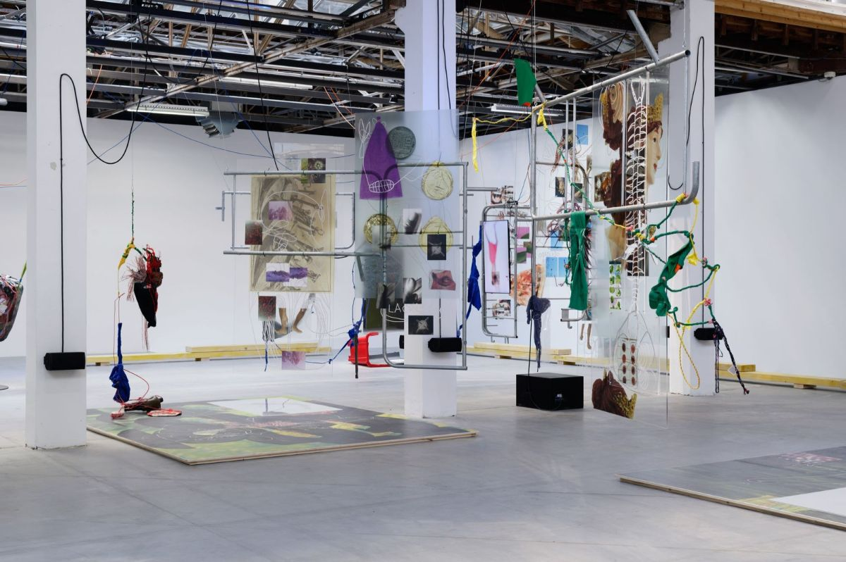 Julien Creuzet, installation view at Palais de Tokyo, 2019. Courtesy the artist and Palais de Tokyo