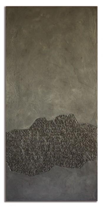 Pascale Hugonet - Stratigraphie 23, 2020 - 114 x 54cm - Cire et pigments sur CP monté sur châssis