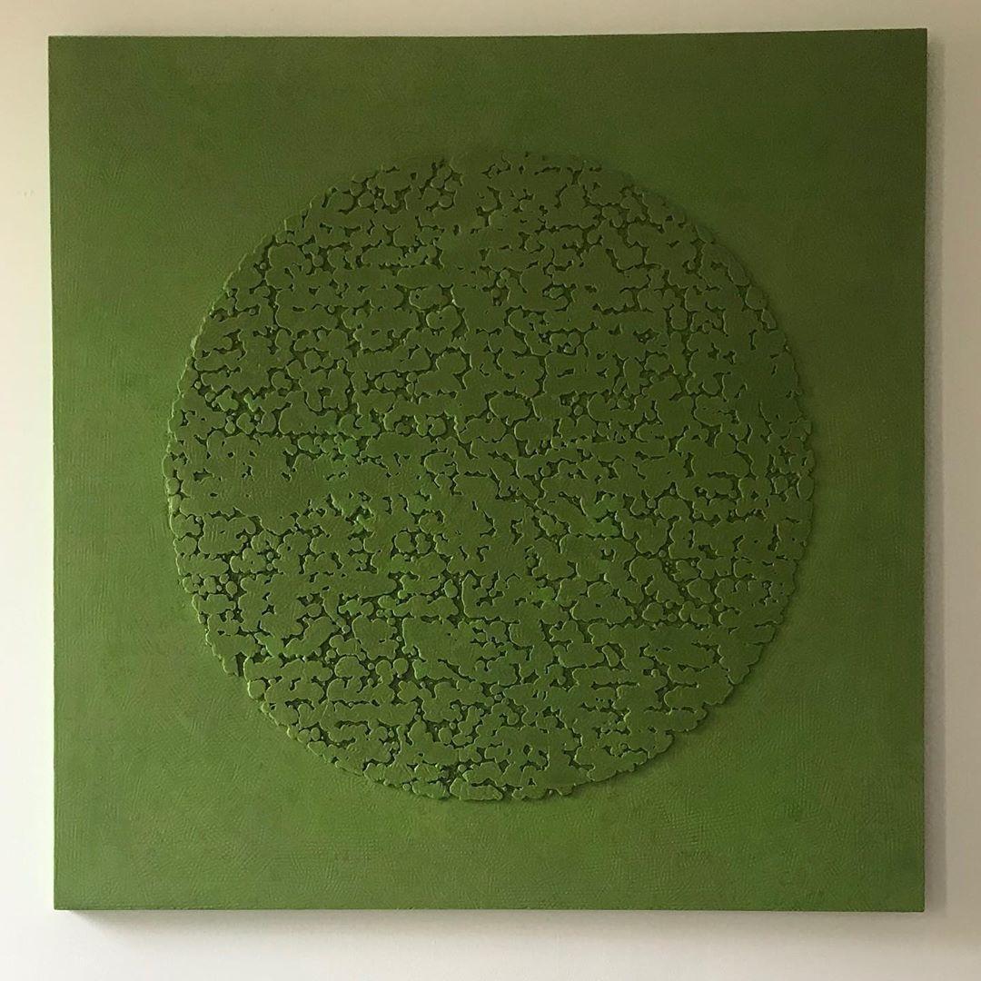 Pascale Hugonet - Stratigraphie 26, 2020 - 80 x 80cm - Cire et pigments sur CP monté sur châssis