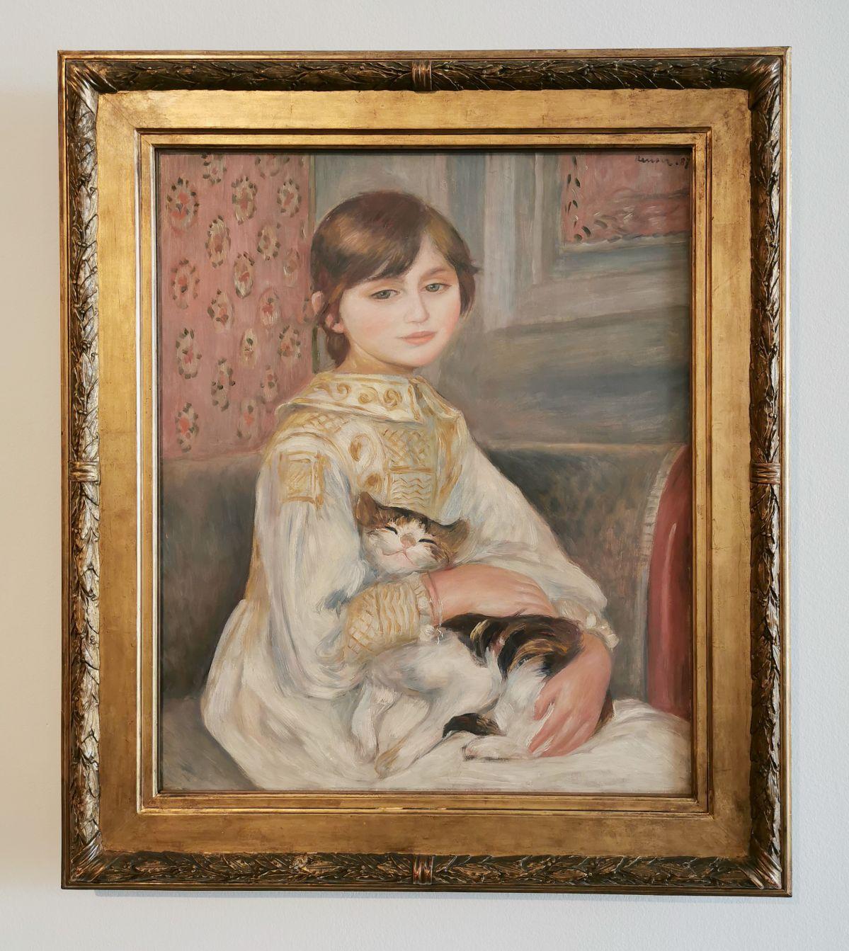 Auguste Renoir - Julie Manet ou L'Enfant au chat, 1887 - Paul Valéry et les peintres - Le cercle amical proche - Musée Paul Valéry à Sète