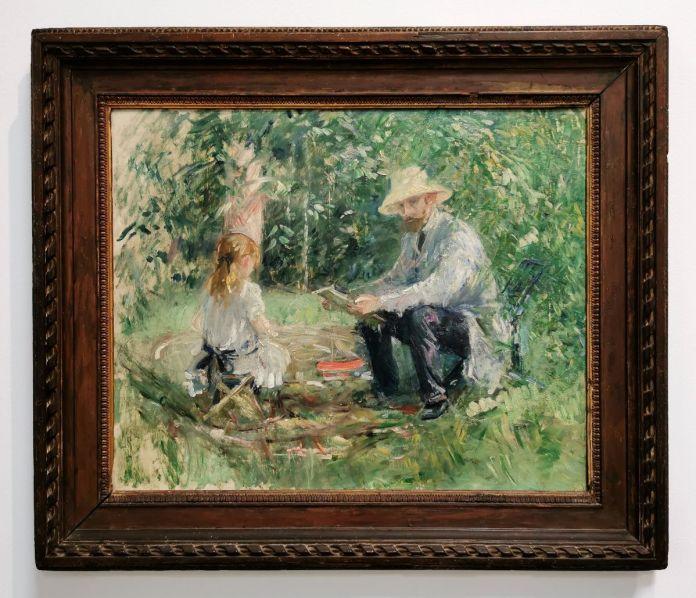 Berthe Morizot - M[onsieur] M[anet] et sa fille, 1883 - Paul Valéry et les peintres - Le cercle familial - Musée Paul Valéry à Sète