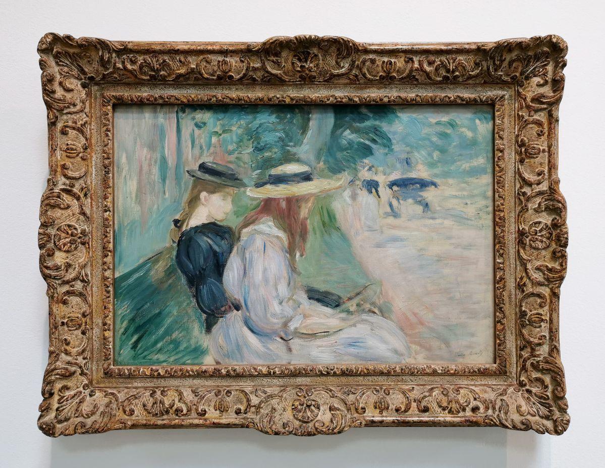 Berthe Morizot - Sur un banc au bois de Boulogne, 1894 - Paul Valéry et les peintres - Le cercle familial - Musée Paul Valéry à Sète