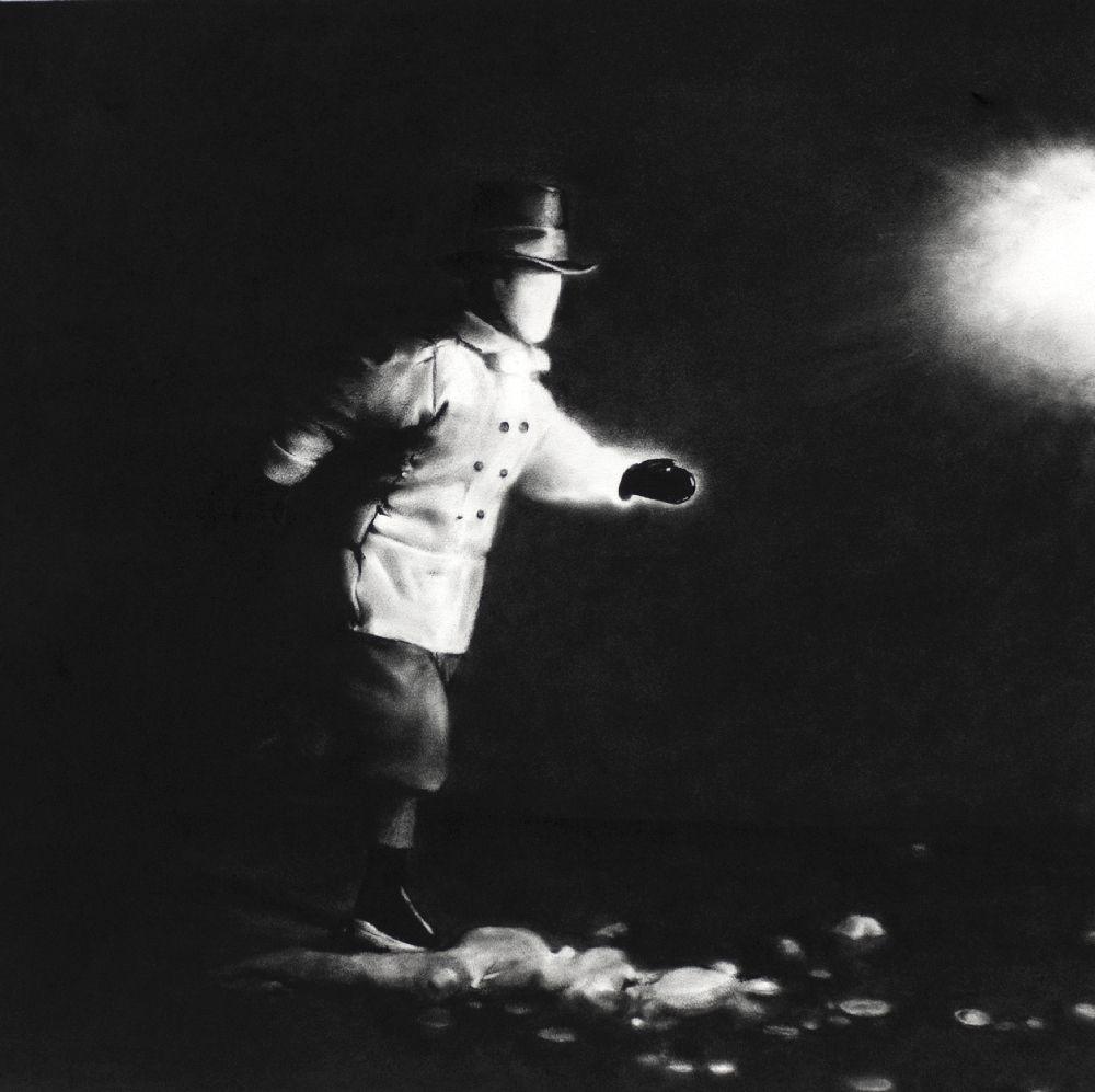 Clément Fourment, dans ta chambre tu cherchais une source lumineuse, dessin, 75×75, 2020